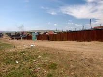 蒙古贫民窟街道 免版税库存图片
