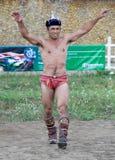 蒙古赢利地区摔跤手 图库摄影