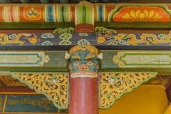 蒙古- Ulaanbaatar - Gandantegchinlen修道院 免版税图库摄影
