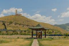 蒙古- Ulaanbaatar - Zaisan纪念品 免版税库存图片