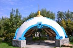 蒙古yurts 库存照片