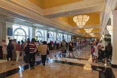 蒙地卡罗旅馆内部在拉斯维加斯, 2013年8月06日的NV 库存图片