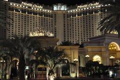 蒙地卡罗旅馆&赌博娱乐场在拉斯维加斯 免版税图库摄影