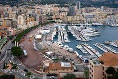 蒙地卡罗港口,摩纳哥 免版税图库摄影