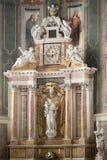 蒙塔尼亚纳,意大利- 2017年8月6日:保佑的圣母玛丽亚的做法的大教堂1431 -1502 免版税库存照片