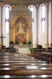 蒙塔尼亚纳,意大利- 2017年8月6日:Assumpt的大教堂 图库摄影