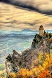 蒙塔莱,圣马力诺第三个塔  免版税库存照片