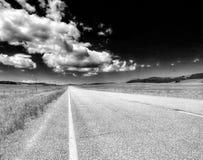 蒙大拿乡下公路 库存照片