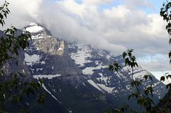蒙大拿冰川国家公园冰冷的山 免版税库存图片