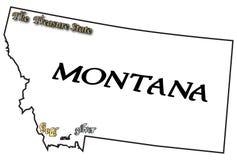 蒙大拿口号和座右铭 免版税图库摄影