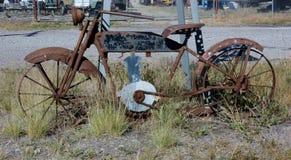 从蒙大拿的生锈的自行车 库存照片