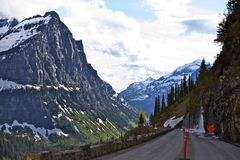 蒙大拿风景由方式 免版税库存照片