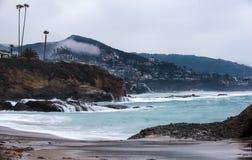 蒙太奇手段,拉古纳海滩 免版税库存图片