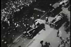 蒙太奇-自动收报机纸条游行,纽约, 20世纪30年代 股票录像