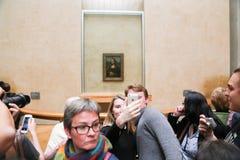 蒙娜丽莎-罗浮宫,巴黎 免版税库存照片