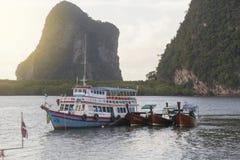 朴蒙山海滩在Trang,泰国 库存图片