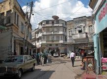 蒙巴萨老城镇 库存图片