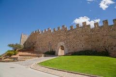 蒙布朗中世纪市墙壁  库存照片