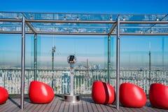 蒙帕纳斯大楼的观察书桌 库存照片