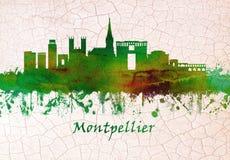蒙彼利埃法国地平线 皇族释放例证