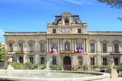 蒙彼利埃Townhall,在法国南部 免版税库存图片