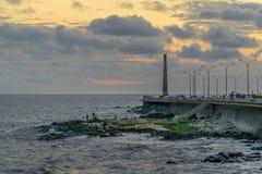 蒙得维的亚沿海场面,乌拉圭 库存照片