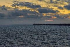 蒙得维的亚沿海场面,乌拉圭 库存图片