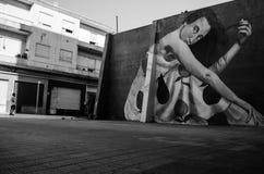 蒙得维的亚,乌拉圭老邻里  免版税库存图片