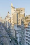蒙得维的亚乌拉圭鸟瞰图  库存图片
