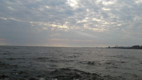 蒙得维的亚乌拉圭atardecer 库存照片