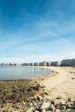蒙得维的亚海滩 免版税库存图片