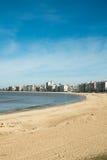 蒙得维的亚海滩 库存照片