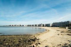 蒙得维的亚海滩 库存图片