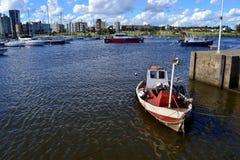 蒙得维的亚,乌拉圭游艇港  图库摄影