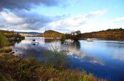 洛蒙德湖在春天,苏格兰 免版税库存照片
