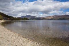 洛蒙德湖苏格兰英国在Trossachs国家公园 免版税库存图片