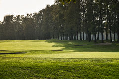 蒙扎意大利:秋天的,高尔夫球场公园 库存图片