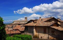 蒙托内中世纪中心 库存图片