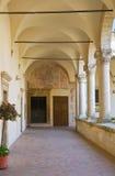 蒙泰斯卡廖索修道院。巴斯利卡塔。 免版税库存照片