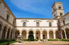 蒙泰斯卡廖索修道院。巴斯利卡塔。 免版税库存图片