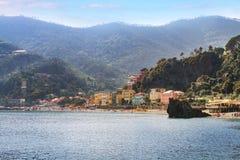 蒙泰罗索阿尔马雷五乡地意大利 免版税库存照片