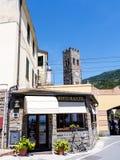 蒙泰罗索阿尔马雷是利古里亚的Cinqueterra海岸线的一个渔村在北意大利 免版税图库摄影