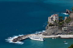 蒙泰罗索阿尔马雷,利古里亚,北意大利 免版税库存照片