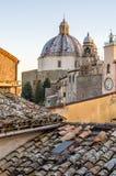 蒙泰菲亚斯科内-拉齐奥-维泰博-意大利-屋顶 免版税库存照片