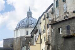 蒙泰菲亚斯科内(维泰博,意大利) 免版税库存图片