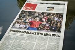 蒙特利尔公报体育栏 免版税库存图片