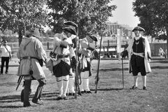 蒙特利尔军事文化节日 库存照片