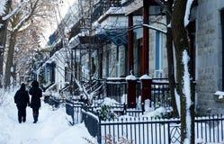 蒙特利尔冬天 免版税库存图片
