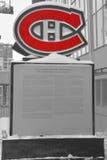 蒙特利尔加拿大人队的纪念碑 图库摄影