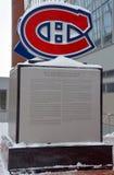 蒙特利尔加拿大人队的纪念碑 库存图片